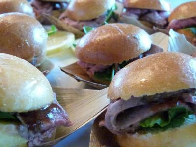 Bourbon Baed Beef Tenderloin Sliders
