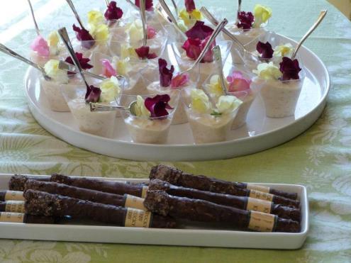 Rice Pudding and Handmade Belgium chocolae cookie cigar