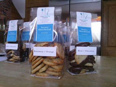 Homemade shortbread cookie packaging
